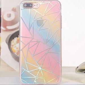 iPhone 7/8 Holographic Rainbow Geo Case